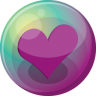 96x96px size png icon of heart purple 3