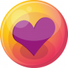 96x96px size png icon of heart purple 4