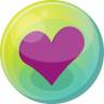 96x96px size png icon of heart purple 5
