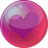 96x96px size png icon of heart purple 6