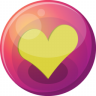 96x96px size png icon of heart yellow 1