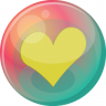 96x96px size png icon of heart yellow 2