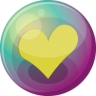 96x96px size png icon of heart yellow 3
