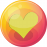 96x96px size png icon of heart yellow 4