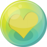 96x96px size png icon of heart yellow 5