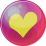 96x96px size png icon of heart yellow 6