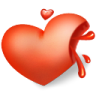96x96px size png icon of heart blood