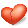 96x96px size png icon of heart broken