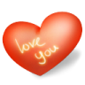 96x96px size png icon of heart love you