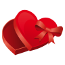 96x96px size png icon of heart case