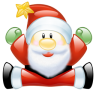 96x96px size png icon of Santa