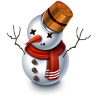 96x96px size png icon of Snowman