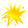 96x96px size png icon of fireworks yellow