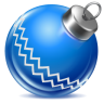 96x96px size png icon of ball blue 1