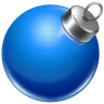 96x96px size png icon of ball blue 2