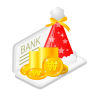 96x96px size png icon of christmas bank money