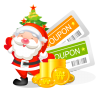 96x96px size png icon of christmas coupons