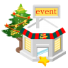 96x96px size png icon of christmas event store