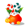 96x96px size png icon of christmas gift bag