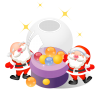 96x96px size png icon of santa christmas balls