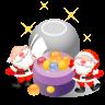 96x96px size png icon of santa christmas balls
