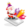 96x96px size png icon of santa creditcard