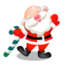 96x96px size png icon of santa dancing