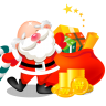 96x96px size png icon of santa gifts bag
