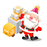 96x96px size png icon of santa gifts truck