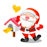 96x96px size png icon of santa mail