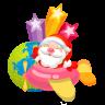 96x96px size png icon of santa plane