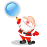 96x96px size png icon of santa search