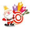 96x96px size png icon of santa stars