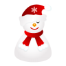 96x96px size png icon of sleepy snowman