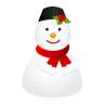 96x96px size png icon of snowman cap