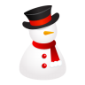 96x96px size png icon of snowman hat