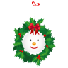 96x96px size png icon of snowman wreath