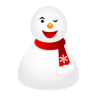 96x96px size png icon of wink snowman
