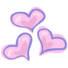 96x96px size png icon of hearts love
