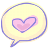 96x96px size png icon of love chat