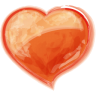 96x96px size png icon of Heart orange
