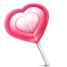 96x96px size png icon of love heart lolly