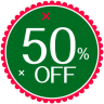 96x96px size png icon of Christmas 50 Percent