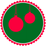 96x96px size png icon of Christmas Hanging Balls