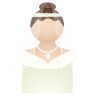 96x96px size png icon of bride