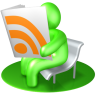 96x96px size png icon of RSS Reader Green