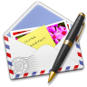 96x96px size png icon of AirMail Stamp Photo Pen