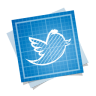 96x96px size png icon of twitter bird