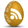 96x96px size png icon of rss white