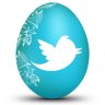 96x96px size png icon of twitter white